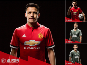 Alexis in Man u shirt